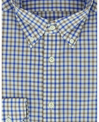Chemise en coton à carreaux vichy bicolores GIAMPAOLO