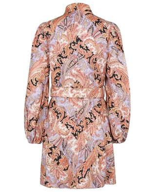 Robe mini en lin imprimé paisley Botanica Chevron ZIMMERMANN