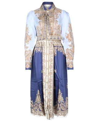 Luminous Scarf printed silk midi dress ZIMMERMANN
