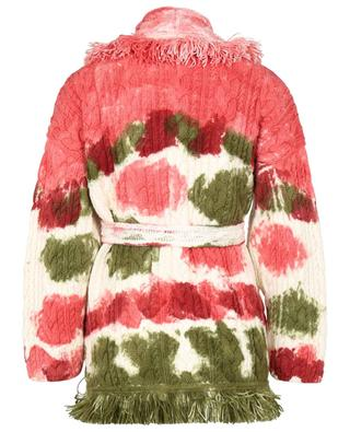 Mirage in the Desert wool cable knit tie-dye cardigan ALANUI