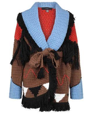 Cardigan en coton à franges Looking for Ghost Town ALANUI