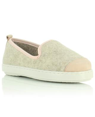 Felt and suede slippers ANGARDE