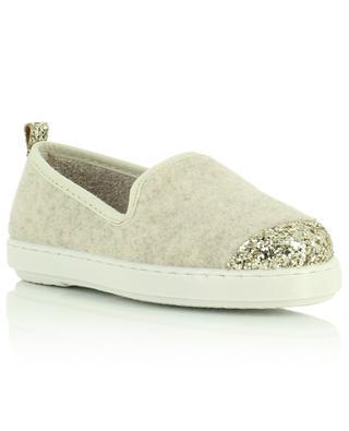 Felt and glitter slippers ANGARDE