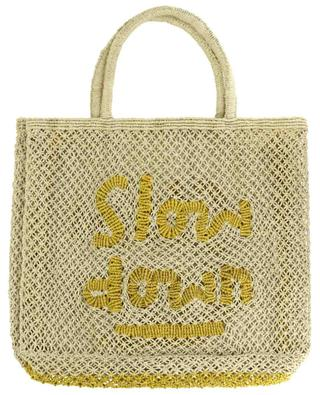 Slow Down Large jute tote bag THE JACKSONS