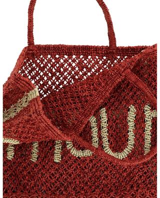 Amour Small jute tote bag THE JACKSONS