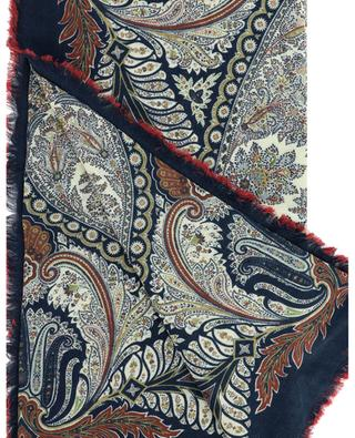 Florals Bombay wool and silk square scarf with paisley print ETRO