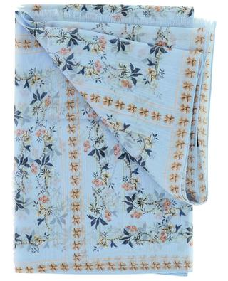 Écharpe fleurie en georgette de soie ETRO