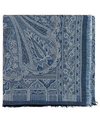 Halstuch aus Baumwolle und Leinen mit Paisleymuster ETRO