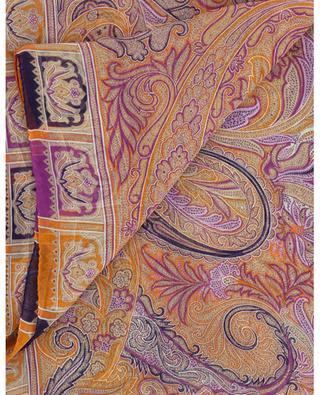Foulard carré en mousseline de soie imprimée Bombay ETRO