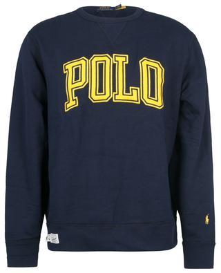 Sweat-shirt à col rond brodé logo esprit universitaire POLO RALPH LAUREN