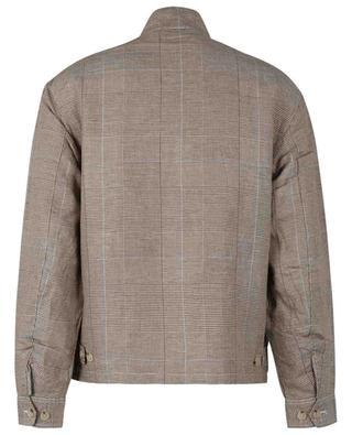 City Baracuda Polo Club glen check linen blend bomber jacket POLO RALPH LAUREN