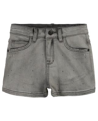 Adriana girls' distressed denim shorts with crystals ZADIG & VOLTAIRE