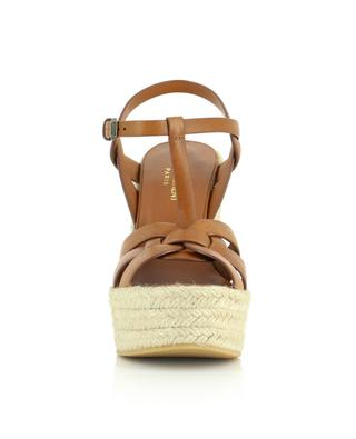 Tribute 85 open leather wedge espadrilles SAINT LAURENT PARIS