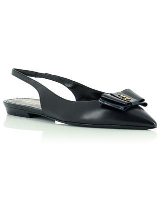 Anais 10 pointy sling back leather ballet flats SAINT LAURENT PARIS