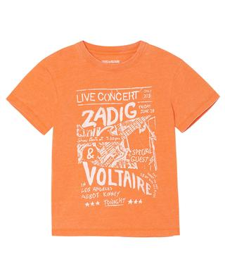 Kita concert print boys' T-shirt ZADIG & VOLTAIRE