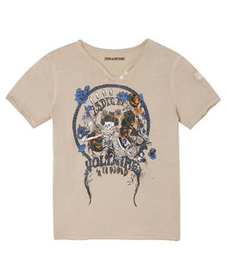 Boxer boys' T-shirt with rock concert style print ZADIG & VOLTAIRE