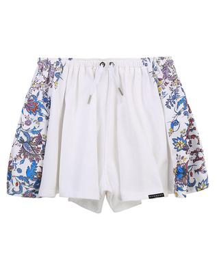 Girls' fleece shorts with fancy flower print GIVENCHY