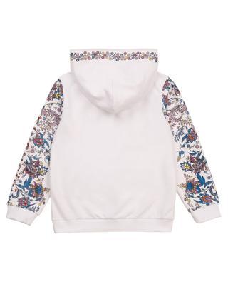 Sweat-shirt zippé à capuche fille imprimé fleurs GIVENCHY