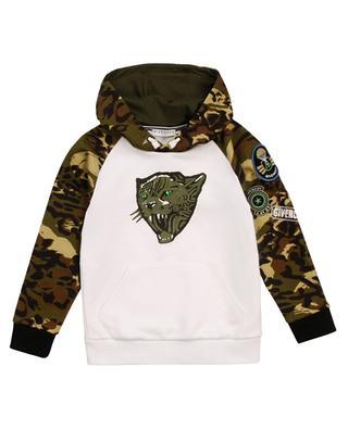 Sweat-shirt à capuche garçon imprimé tigre et motifs camouflage GIVENCHY
