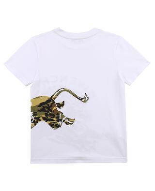 Tarnfarbenes Jungen-T-Shirt mit Löwenprint GIVENCHY