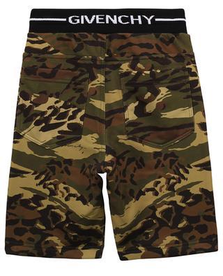 Bermuda garçon en molleton imprimé camouflage et logo GIVENCHY