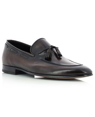 Polished leather loafers with tassels BARRETT