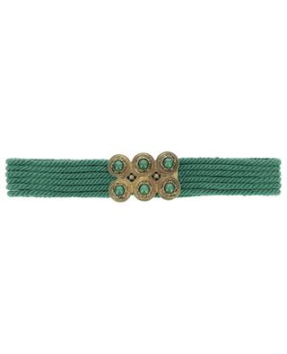 Wide rope belt with gem buckle ETRO
