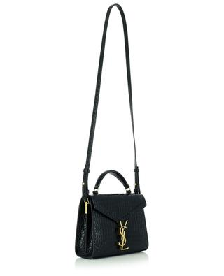 Handtasche aus Leder in Kroko-Optik Cassandra Mini Top Handle SAINT LAURENT PARIS