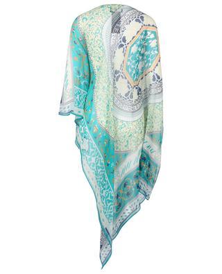 Poncho aus Seidengeorgette mit Arabeskenprint ETRO