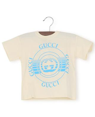 Gucci Disk printed baby T-shirt in cotton GUCCI