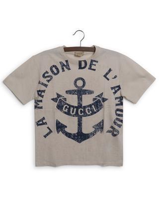T-shirt garçon imprimé Gucci Anchor GUCCI