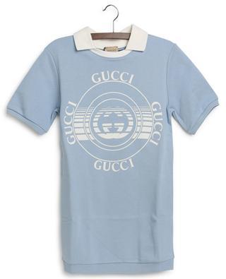 Robe en coton fille avec imprimé disque Gucci GUCCI