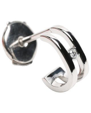 Einzelner Ohrring aus Weissgold Charlie Double 1 Diamant VANRYCKE