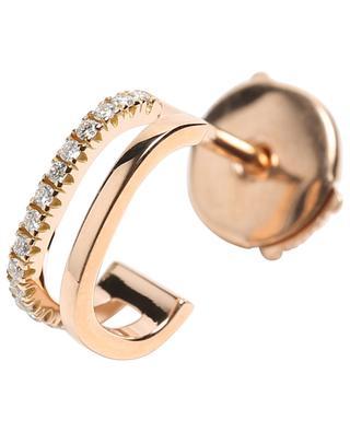 Mono-boucle d'oreilles en or rose et diamants Charlie Double VANRYCKE