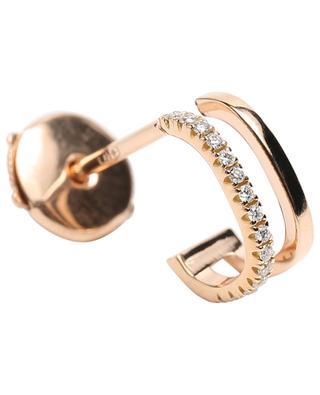 Charlie Double single rose gold earring with diamonds VANRYCKE