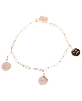 Shaman KAAMBO 3 talismans pink gold bracelet VANRYCKE