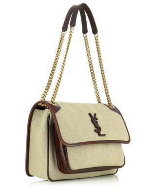 Niki Medium cotton canvas and leather handbag SAINT LAURENT PARIS