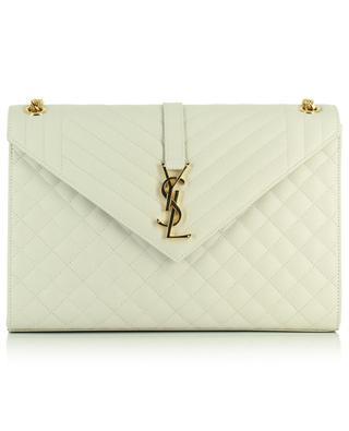 Enveloppe Large Mix Matelassé textured leather shoulder bag SAINT LAURENT PARIS
