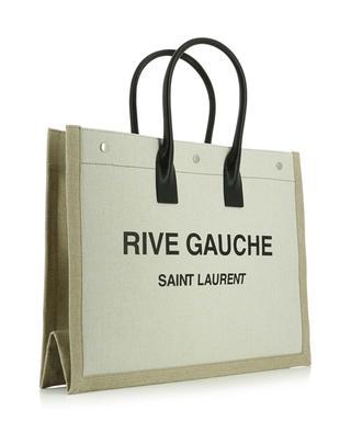 Sac cabas en lin et cuir Rive Gauche SAINT LAURENT PARIS
