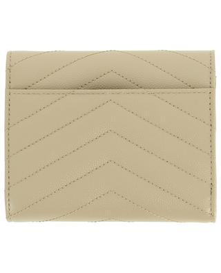 Brieftasche aus texturiertem Leder Monogram SAINT LAURENT PARIS