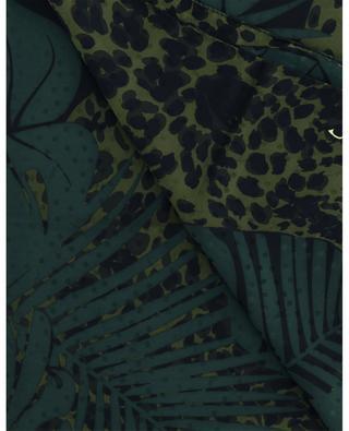 Quadratisches Tuch aus Seidenjacquard mit Print Nocturnal Jungle Monogram SAINT LAURENT PARIS