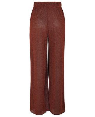 Pantalon large à taille haute en lurex Lumière OSEREE
