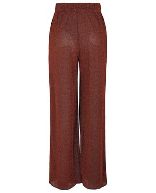 Lurex-Hose mit weitem Bein und hoher Taille Lumière OSEREE