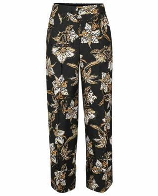 Pantalon large raccourci en tweed d'été Structured Florals DOROTHEE SCHUMACHER