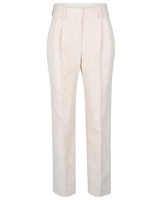 Pantalon à pinces en tweed Missy Banker Cream BLAZE MILANO