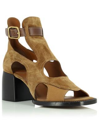 Gaile 65 high-top suede sandals with block heel CHLOE