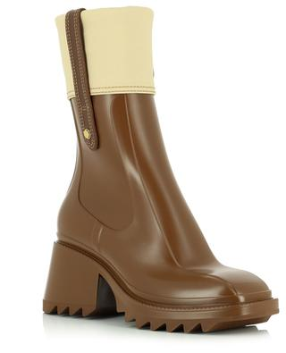 Betty pvc and canvas rain ankle boots CHLOE