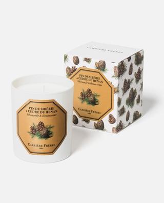 Pin de Sibérie & Cèdre du Hénan scented candle - 185 g CARRIERE FRERES