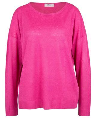 Boxy-Pullover aus Leinen mit rundem Ausschnitt BONGENIE GRIEDER