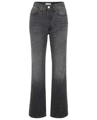 Jean bootcut taille haute 70s Ash Black RE/DONE